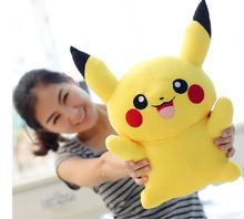 small cute plush Pikachu toy yellow colour Pikachu doll gift about 40cm