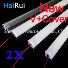 2 pcs * 50 cm 12 V LED Super bright corée 8520SMD36 SMD avec V Alu profil pour LED bandes et couverture 18 W/M LED disque rigide bande de LED(China (Mainland))