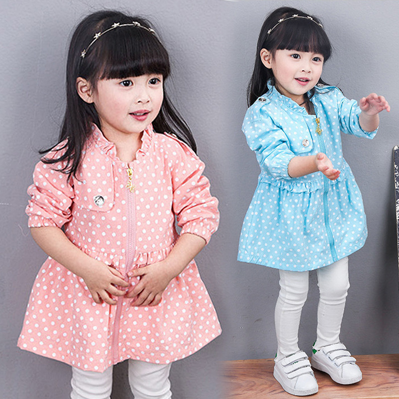 New Arrivals Baby Girls Jacket &amp; Coat 2016 Spring Fashion Candy Color Kids Outwear Coats Long-sleeve Childrens Clothing Trench<br><br>Aliexpress