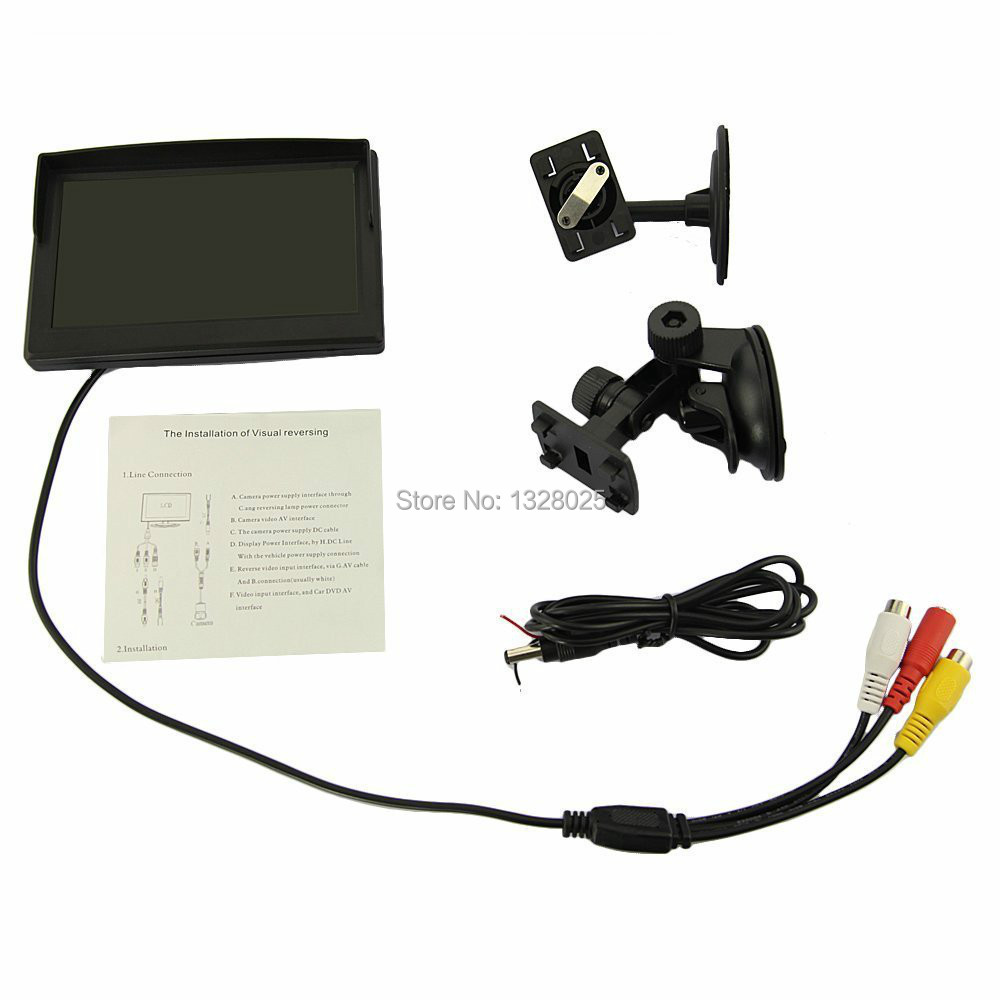 5 Inch Car TFT Color Rear View Monitor Parking Backup Camera DVD + 2 Bracket DVD/ VCD/ - Home of shopping store