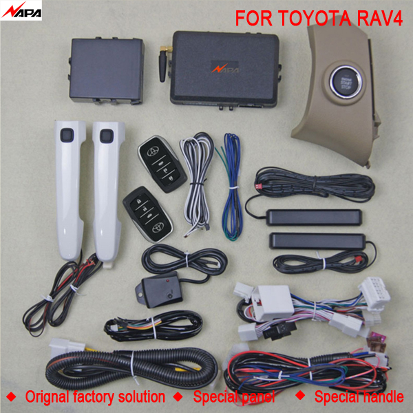 Car auto keyless entry push start with smart handle unlock remote start alarm system for toyota RAV4(China (Mainland))