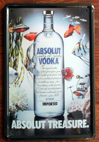 ABSOLUT VODKA BEER SERIES Metal Vintage Tin Signs Decor Wall House Cafe Restaurant Plaque Vintage Painting Mix order 20*30 CM(China (Mainland))