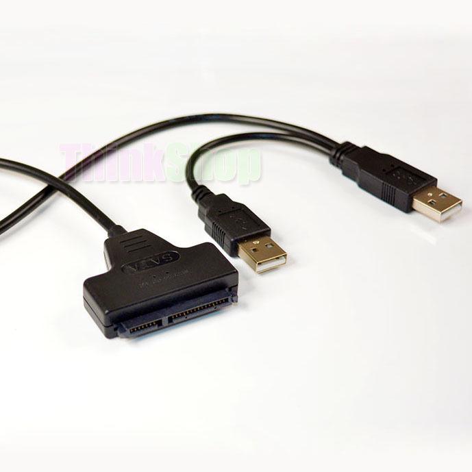 """2.5"""" HDD Hard Disk Drive USB 2.0 to SATA 7+15 Pin 22Pin Adapter Cable kable Cord(China (Mainland))"""