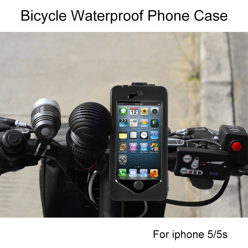 Silicone Cases For Iphone 5 5s Waterproof Shockproof Sports Bicycle Phone Cover Case By I5s Mount Holder Premium Fashion Covers(China (Mainland))