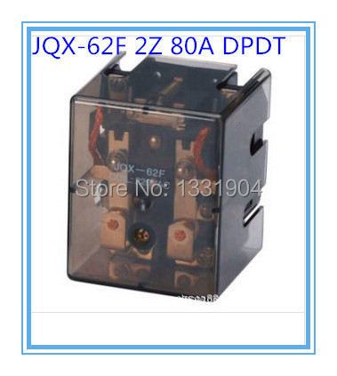 DPDT JQX-62F2Z 80A DC/AC 12V/24V/110V/220V Coil Electromagnetic Power Relay, large power relay. Silver Alloy Contact<br><br>Aliexpress