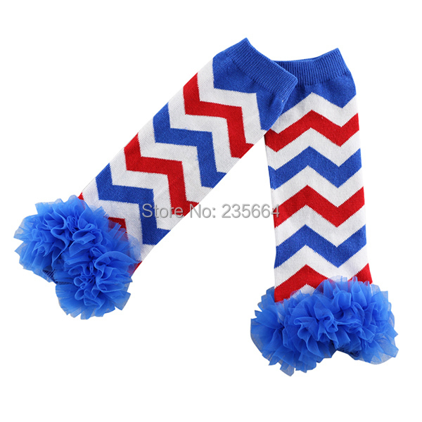 freeshipping wholesale 4th of july ruffles leg warmers for baby girls,chevron patriotic leg warmers/kids and girls leggings