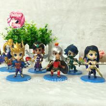 Anime LOL 9cm Quinn Pantheon Orianna Akali Sivir Karma GAME PVC Action Figure brinquedos Model Toys Gift