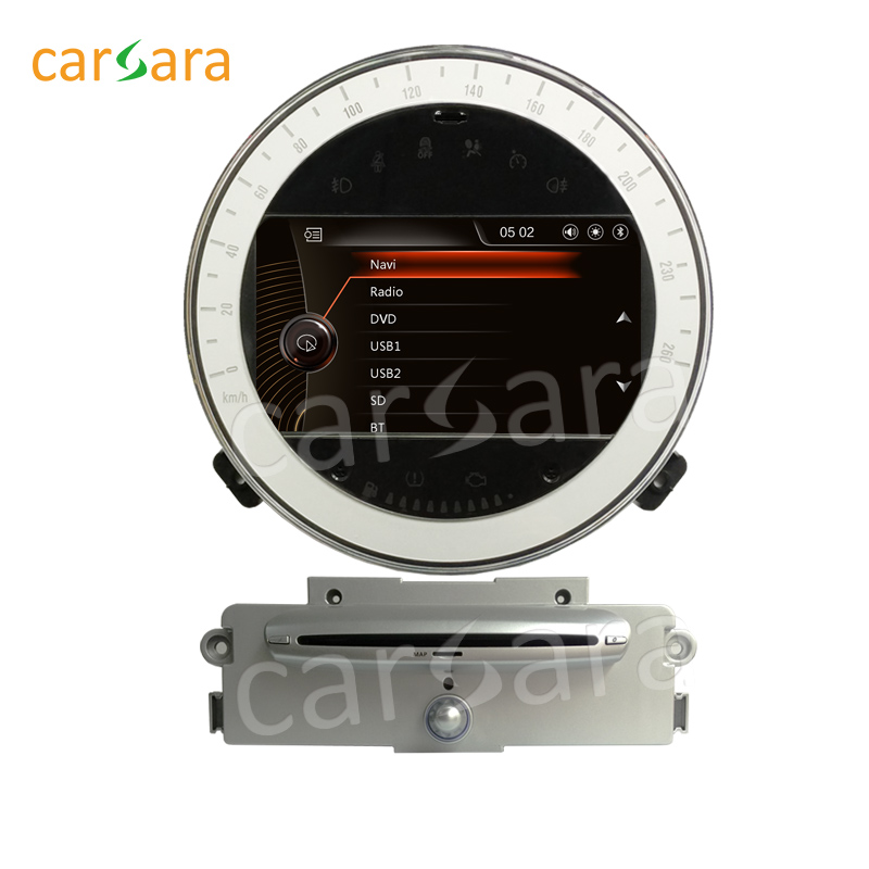 carsara GPS Head Unit Radio Stereo DVD Navigation Car 2 Din Player for Mini Cooper 2007-2011 with silver CD player(China (Mainland))
