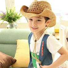 2016 New Fashion Straw Cowboy Hat for Kids and Adult Summer Beach Floppy Sun Bucket Hat (China (Mainland))