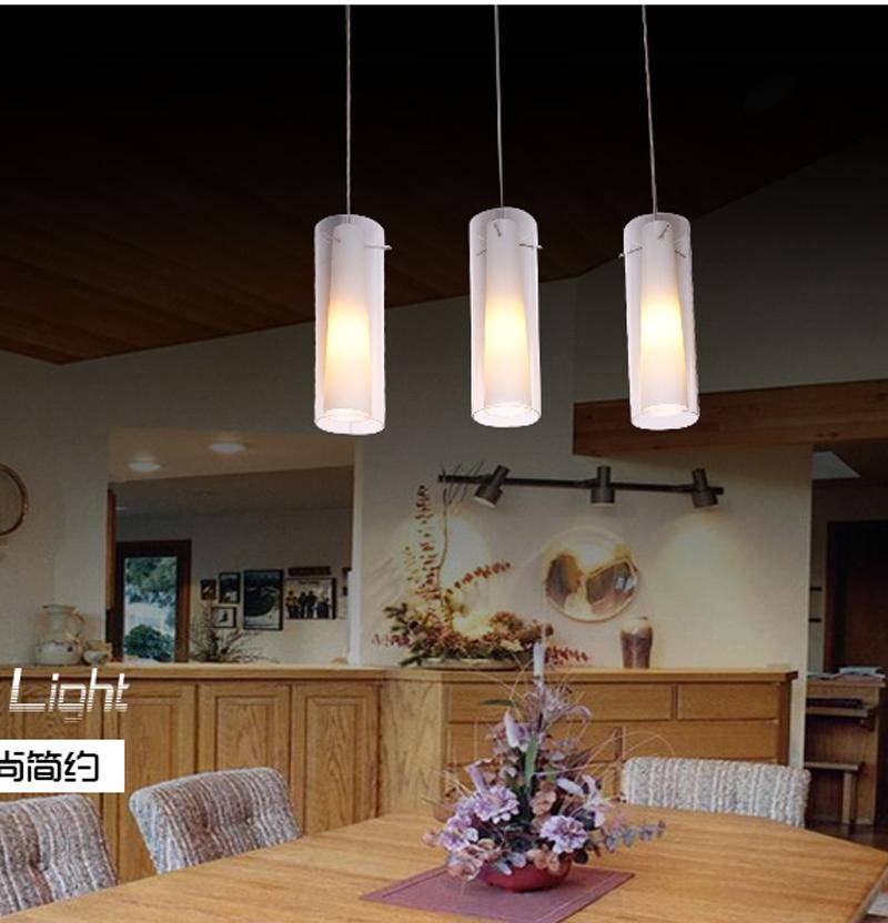 Eetkamer hanglamp moderne korte glas drie hoofd gangpad for Moderne verlichting eetkamer