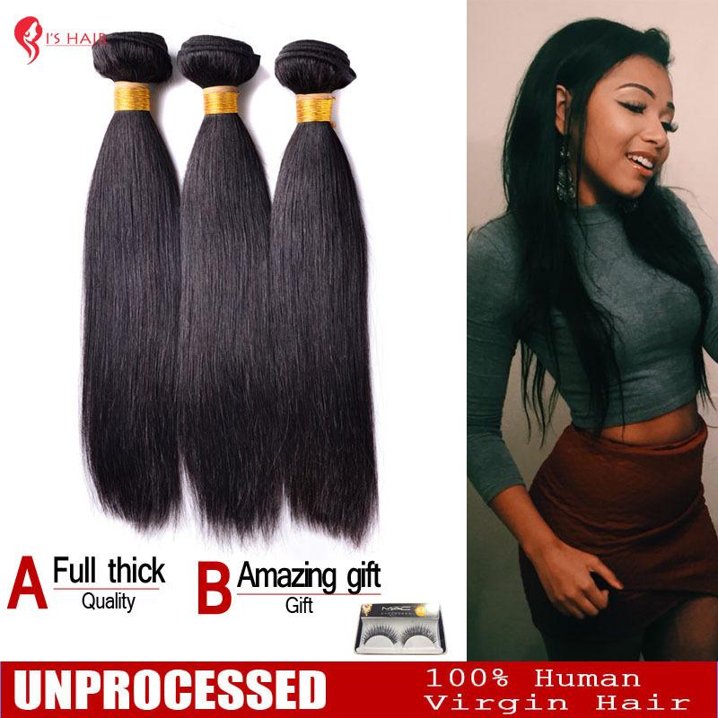 "Гаджет  malaysian virgin hair weaves straight human hair extensions remy unprocessed hair  8""--28""  3 bundles/lot None Волосы и аксессуары"