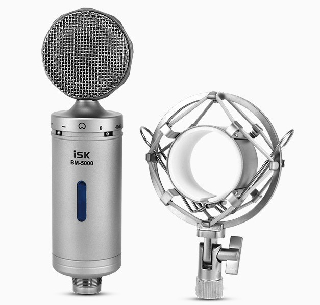 Free shipping  isk bm-5000 professional sound record Broadcast Condenser Microphone Capacitance mic KTV  kalaok mic<br><br>Aliexpress