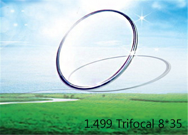 1.499 Trifocal 8'35 SPH range -3.00~+5.00 Max CLY -4.00 Add +1.50~+3.00 Diamater 70/75mm optical lenses for eyewear(China (Mainland))