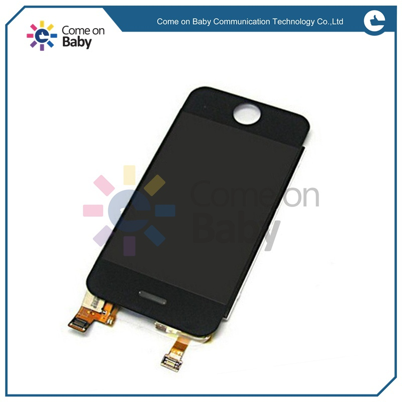 Free shipping Black touch screen LCD digitizer display outer top glass Complete Front panel Assembly For iPhone 2G(China (Mainland))