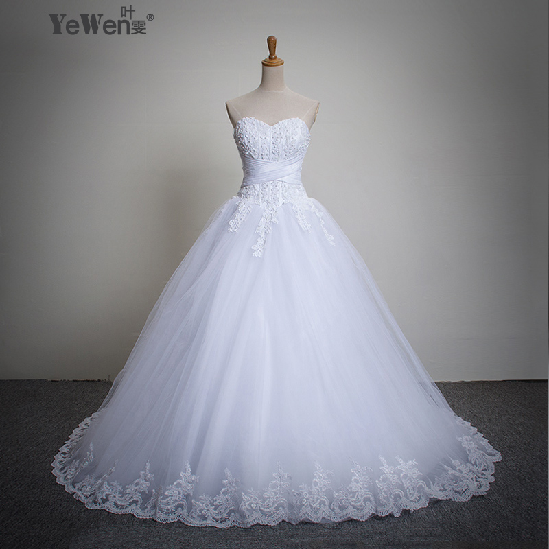 Long train wedding gown for Crystal design wedding dresses price
