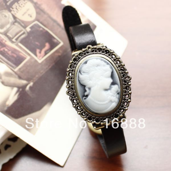 Free shipping hot sale watches women fashion Vintage Wristwatch Genuine Cow Leather(China (Mainland))