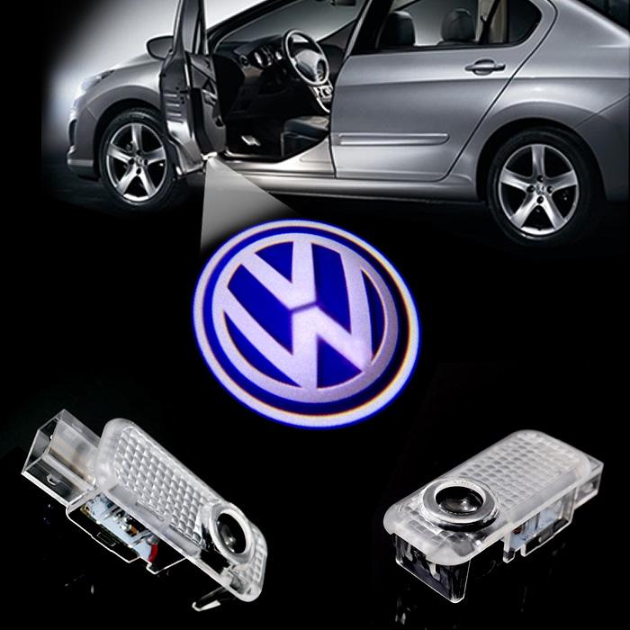 2 LED Car door courtesy laser projector Logo Ghost Shadow Light FOR Volkswagen VW phaeton Passat B5(China (Mainland))