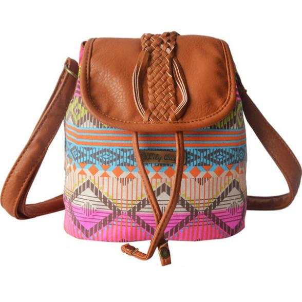 Womens Handbag Messenger Bag Crossbody Shoulder Bags Travel Bohemia Print Drawstring Bucket Canvas School Bags For Teenagers<br><br>Aliexpress