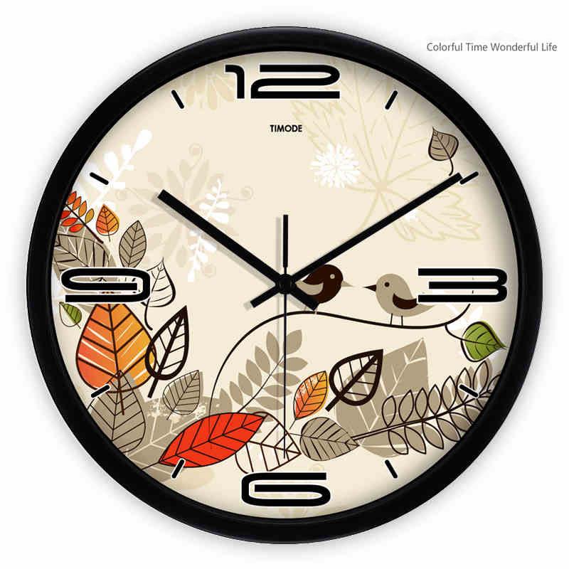 Reloj de pared de la habitaci n de los ni os ni as p jaros - Relojes para casa ...