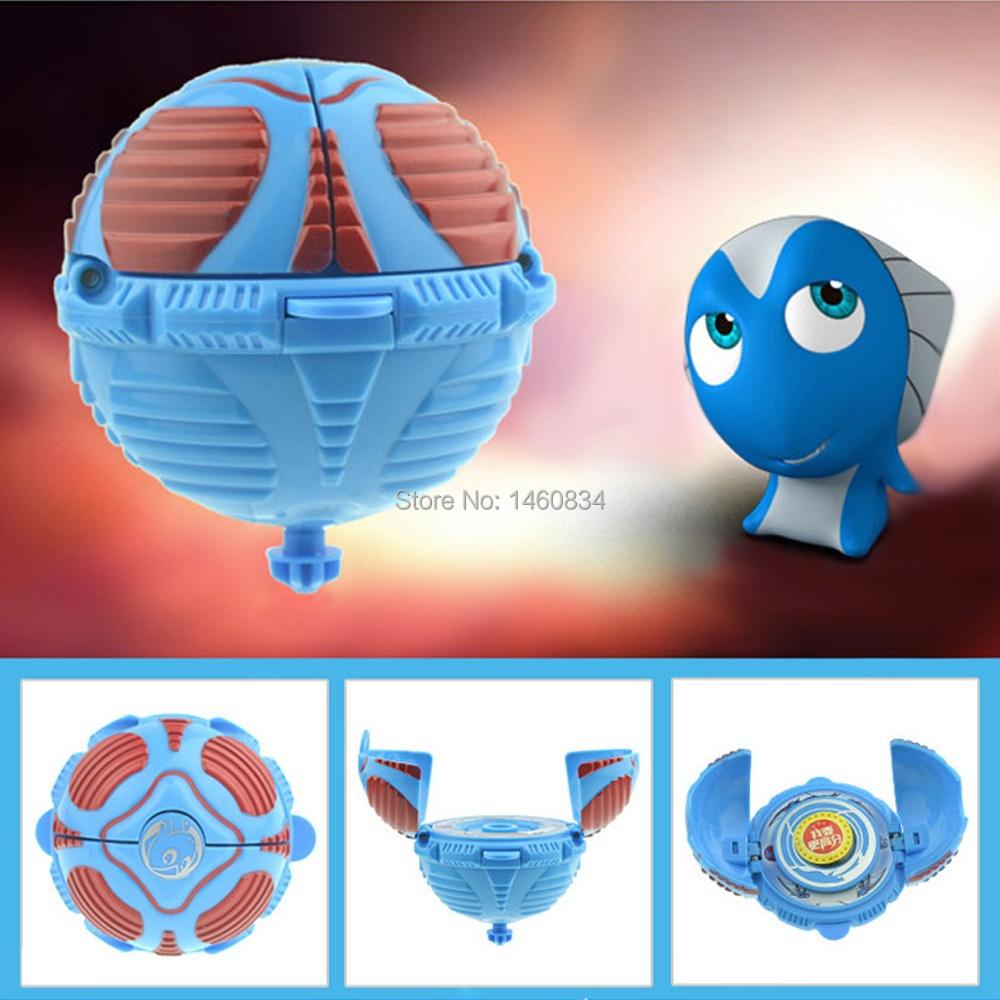 Genuine Egg God 2 Bomb Blast Egg Flying Gyroscope Spinning Top Toy for Kids-Red Snake Meng Luo(China (Mainland))