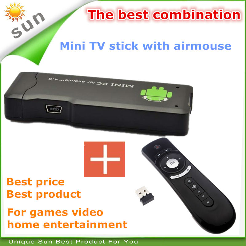 New 2014 smart tv usb stick mini digital tv stick android smart tv dongle android 4.2 1G 4G with airmouse remote free shipping(China (Mainland))