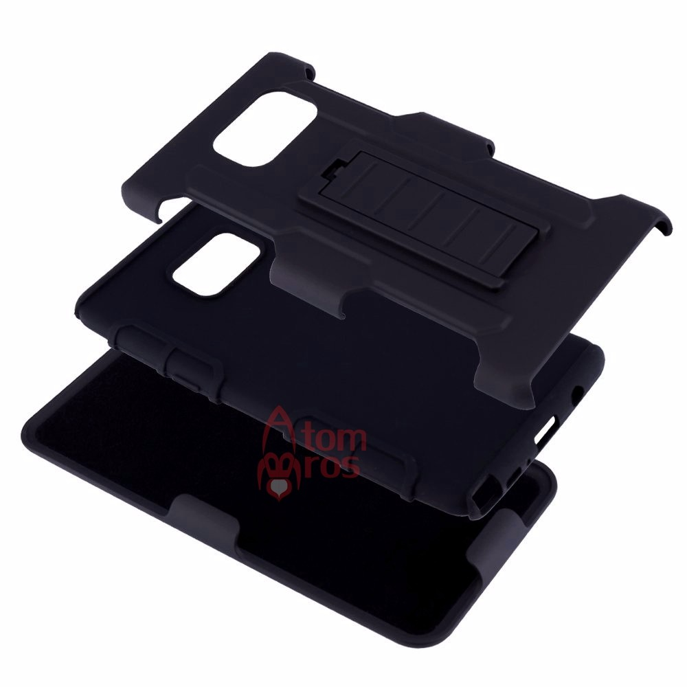 Heavy Duty Dual Layer Full-body Locking Belt Swivel Clip Holster Cover with Stand Shock Proof Case for Samsung Galaxy Note 7