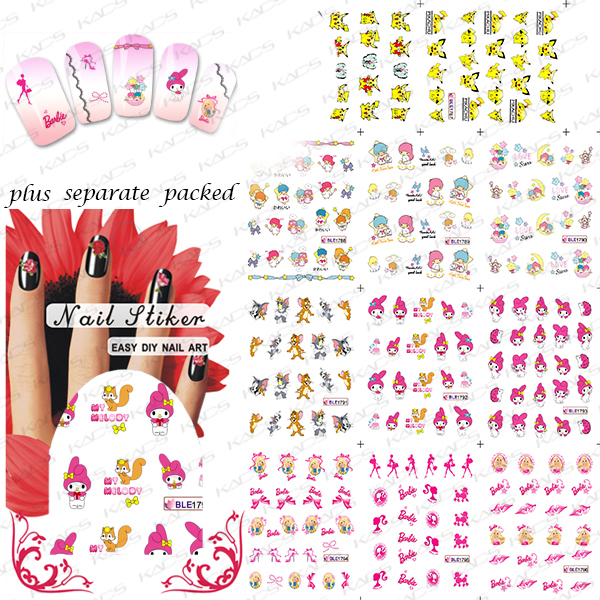 2015 NEW 50PCS/lot  BLE1786-1796 Manicure water stickers Manicure special hot cartoon animation series princess series<br><br>Aliexpress