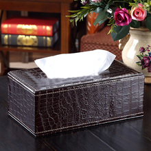 V1NF Crocodile style Home PU Leather Tissue Box Cover Napkin Paper Holder Case New Promotion Free Shipping (China (Mainland))