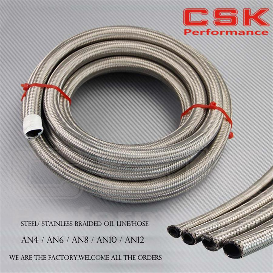 5M -8AN AN8 8-AN Stainless Steel Braided Hose for OIL/FUEL/GAS LINE/HOSE 5 METER 16FT 16 FEET(China (Mainland))