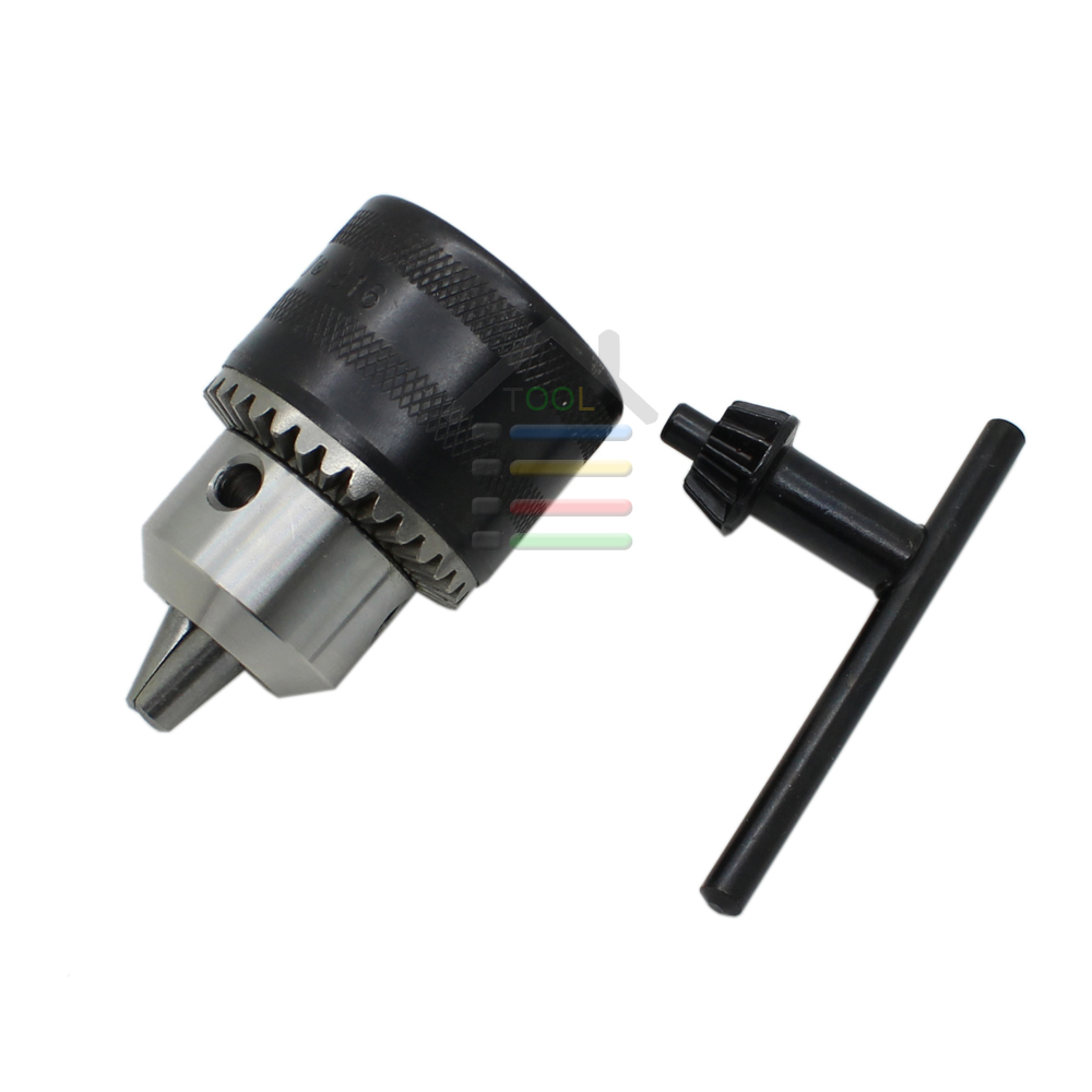 Electric Hammer Drill Chucks 1.5-13mm Capacity B16 Mount Tapered Taper Bore Drill Chuck with Key <br><br>Aliexpress