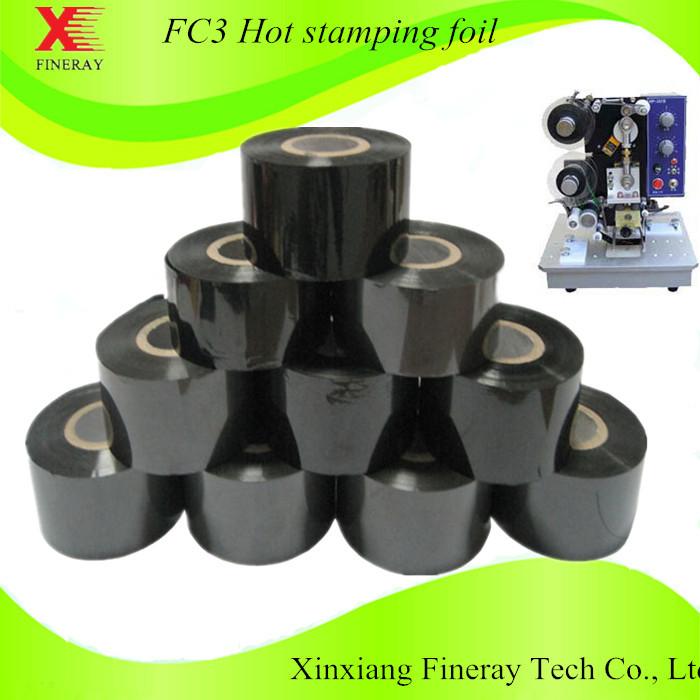 FINERAY FC3 Black 25mm*120m Heat transfer ribbon film(China (Mainland))