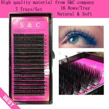 S&C,7 cases set,high-quality mink eyelash extension,fake eyelash extension,false eyelashes,individual eyelashes(China (Mainland))