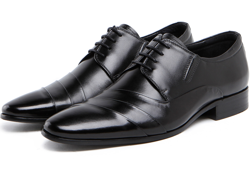 2015 British style fashion mens dress shoes genuine leather black pleated design basic flats for wedding business office  678<br><br>Aliexpress