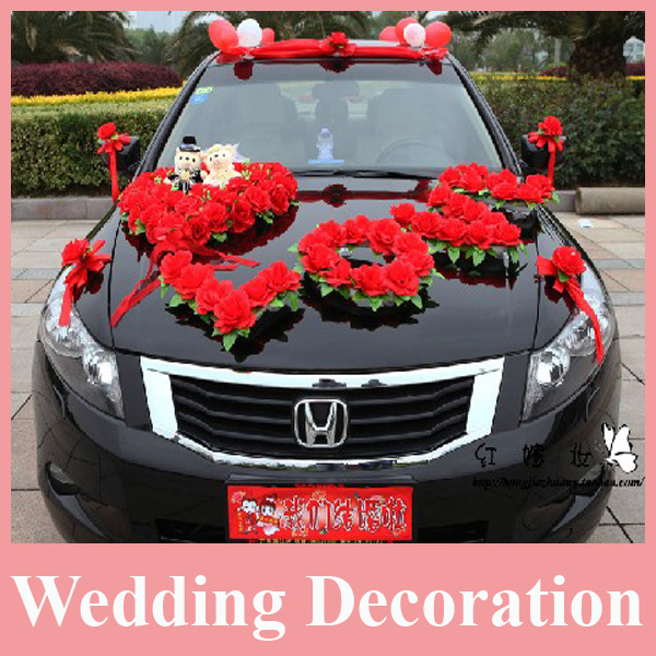 Hot sell artificial flower for wedding car decoration for Automotive decoration