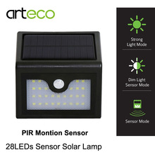 28LEDs LED Solar Light PIR Motion Sensor Lamp IP65 waterproof Outdoor wall lamp Pathway Balcony Porch Fence Garden Lights