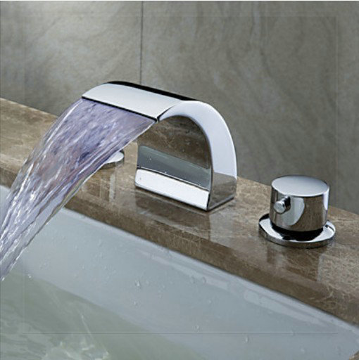 Chrome And Gold Bathroom Faucets : ... Bathroom Sink Faucet Chrome Basin Mixer Tap sink bath room gold