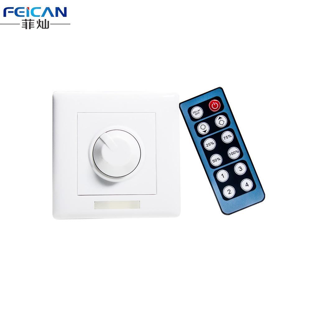 dc12 24v 8a 96w single color ir 12keys led dimmer wall switch for 5050 3528 single color led. Black Bedroom Furniture Sets. Home Design Ideas