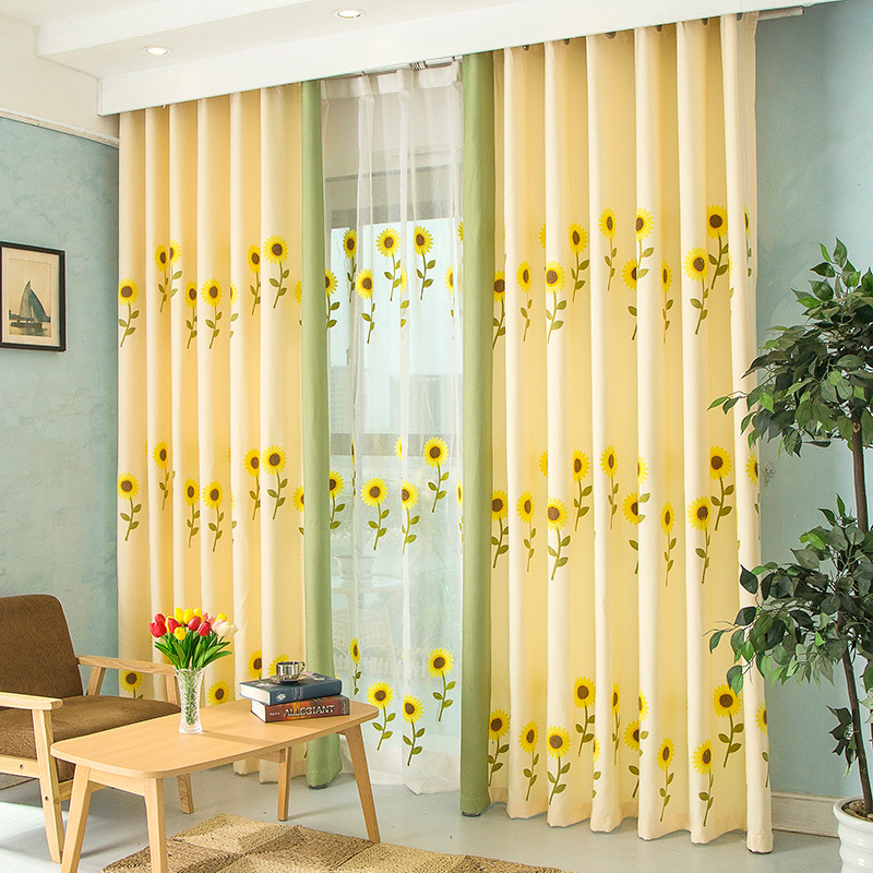 Popular Sunflower Kitchen Curtains Buy Cheap Sunflower Kitchen Curtains Lots From China