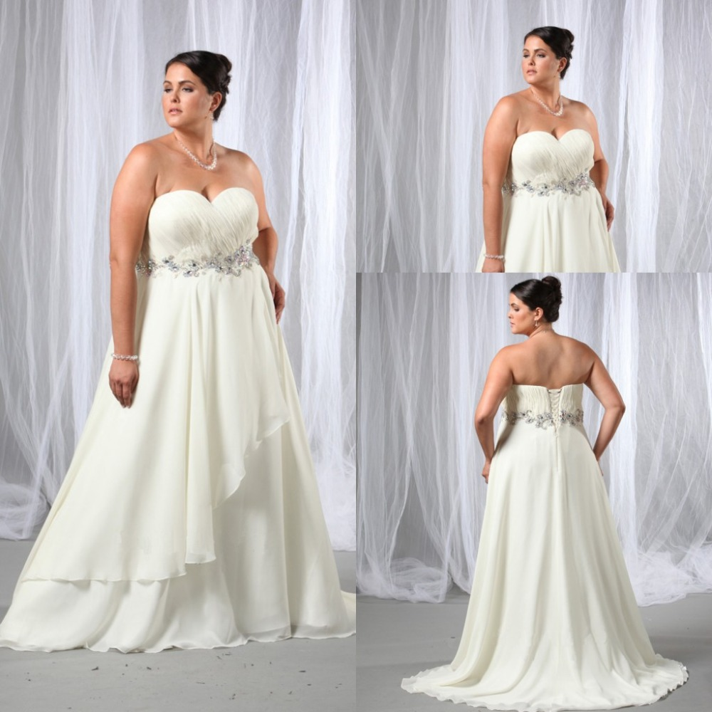 Vestidos De Casamento Plus Size Beach Wedding Dresses 2015