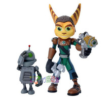 PVC Ratchet and Clank Captain Qwark with Scrunch Action Figures Kids Toys For Gift Kids Toys A01X75(China (Mainland))