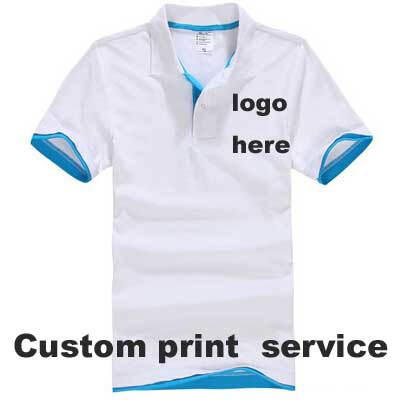 custom logo products DIY logo professional design T SHIRT FOR MENS turn down collar unisex short sleeve 220g cotton 26 colours(China (Mainland))