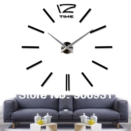 Modern Creative Large 3D Stickers Digital Wall Clock Big Design Watch Decor Home Decoration Unique Gift Freeshipping
