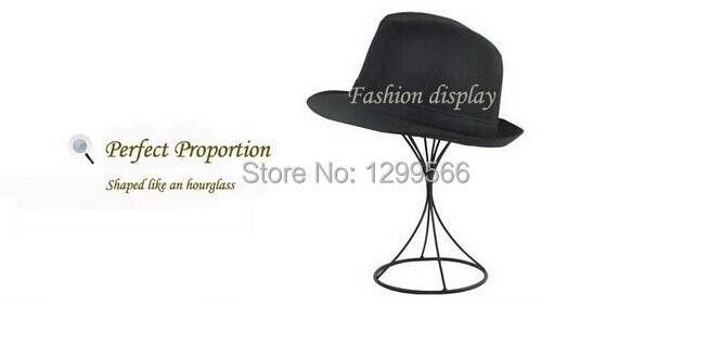 Free Shipping Fashion High Quality Black Metal Hat Display Stand Rack(China (Mainland))