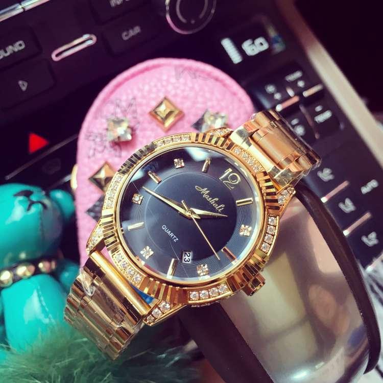 Luxury Brand New Наручные Часы Женщины Моды Случайные Платье Календарь Кварцевые Часы Леди женщин Девушки Нежные Кристаллы Часы OP001