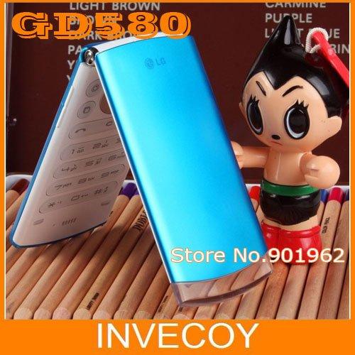 GD580 Lollipop original LG GD580 Unlocked cell phone bluetooth flip phone 3.15MP External Hidden OLED Display refurbished(China (Mainland))