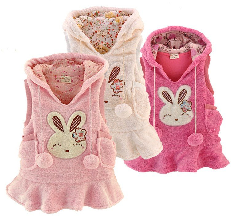 Promotion!Free Shipping/Children clothes/Girls Printed Pattern Waistcoat/Kids Cotton Vest/Girls lovely pullover Waistcoat<br>