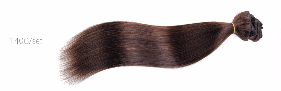 2016 Hot Sale DHL Free Shipping #2 Brown Clip In Remy Human Hair Extensions Full Head 16-28″ Rita Queen Hair Products 70-200G