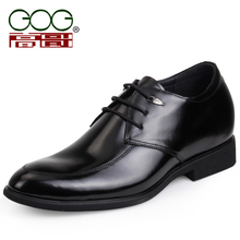 GOG Leather elevator shoes elevator shoes male leather male leather elevator banquet leather marry(China (Mainland))