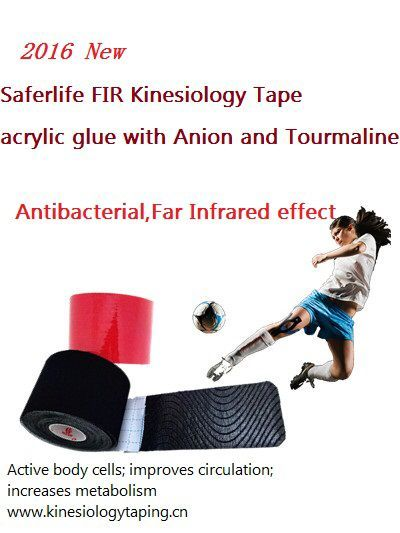 10% off New Arrival FIR Kinesiology Therapy Tape Elastic MUSCLE TAPE 5cm x 5m