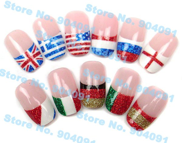 Free Shipping  3D nail sticker  Nail Decoration National Pattern Stickers  National Glitter Flag Series ,16 different design<br><br>Aliexpress